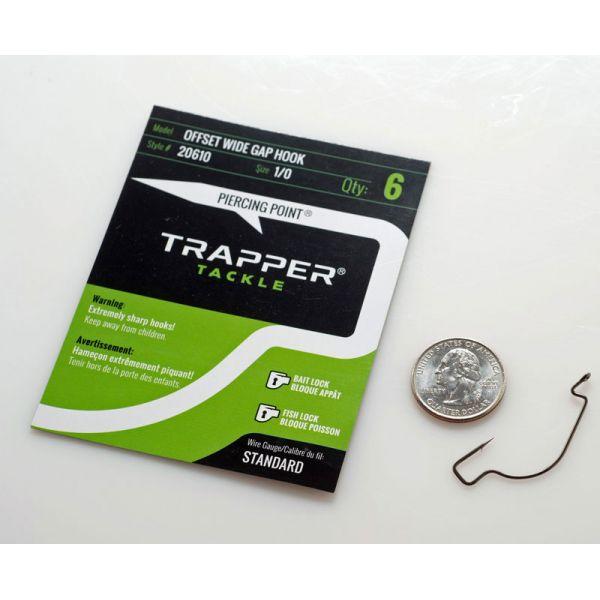 Trapper Tackle Offset Wide Gap Hook - Standard