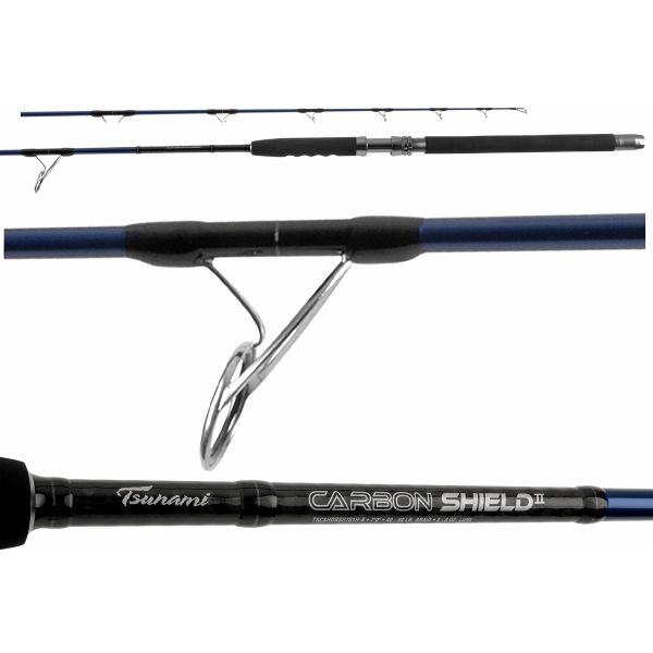 Tsunami TSCSHDPSII762H-B Carbon Shield II Boat Popping Rod