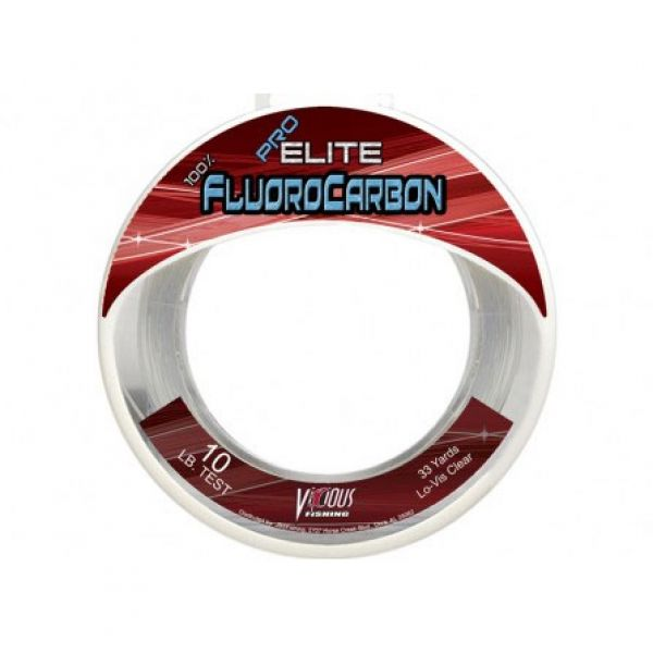 Vicious Fluorocarbon Leader 33 Yards Bass /& Saltwater Fishing Leader Material