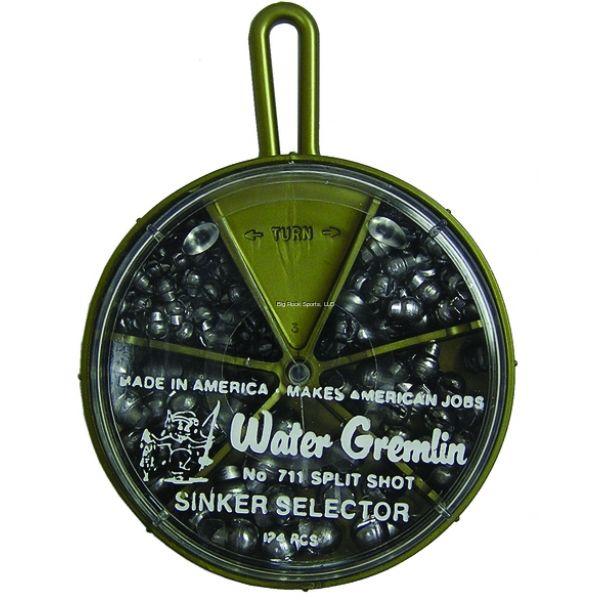 Water Gremlin 711 Removable Split Shot Selector 124pc