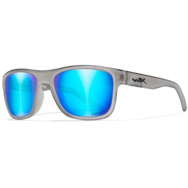 Wiley X WX Ovation Sunglasses - Matte Slate Frame/Blue Mirror Lens