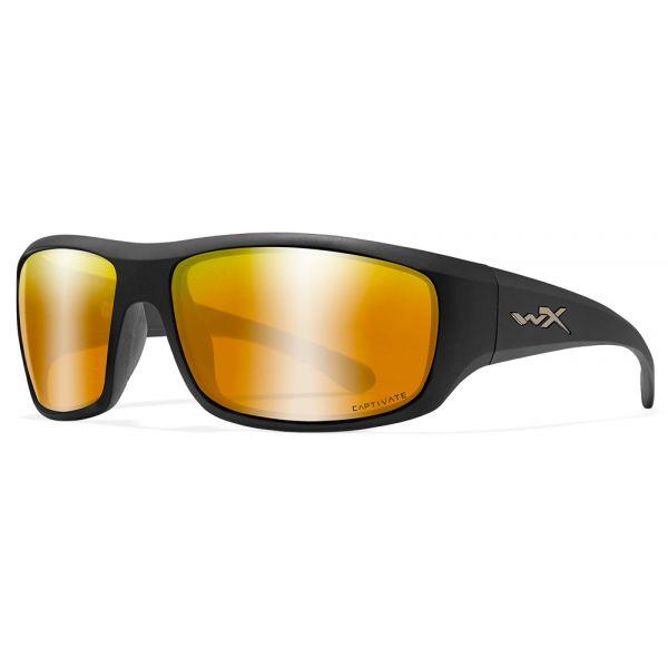Wiley X WX Omega Sunglasses - Matte Black Frame/Bronze Mirror Lens