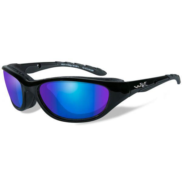 Wiley X Aiirage Sunglasses - Gloss Black/Polarized Blue Mirror