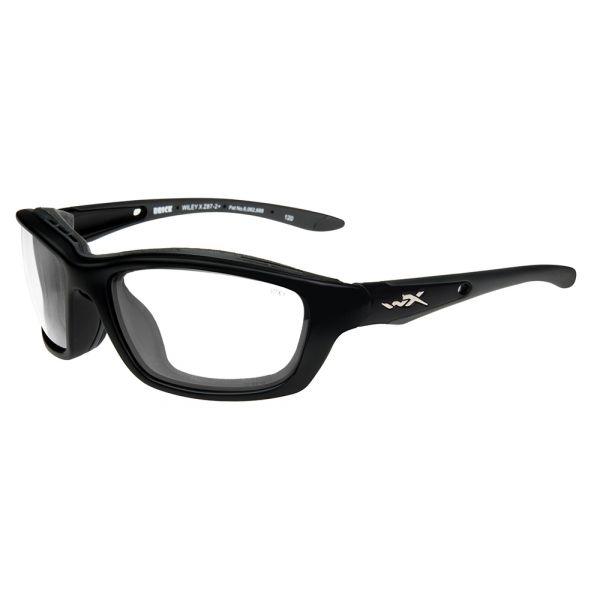 Wiley X Brick Sunglasses - Gloss Black/Clear