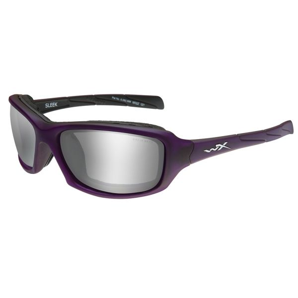 Wiley X Sleek Sunglasses - Matte Voilet/Silver Flash