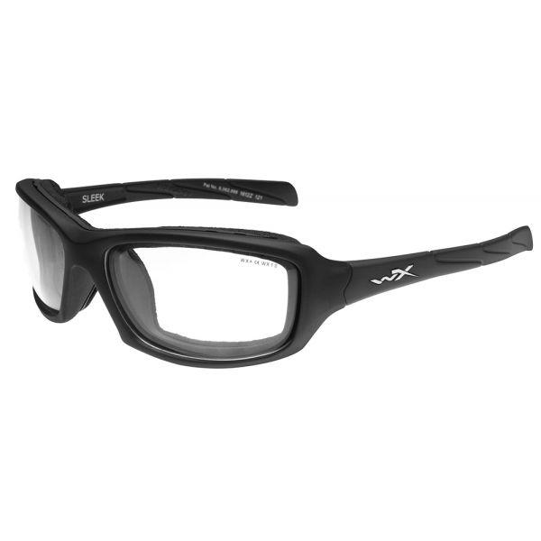 Wiley X Sleek Sunglasses - Matte Black/Clear