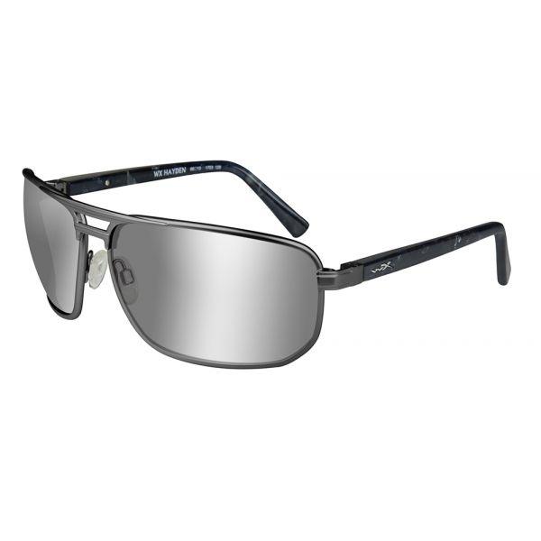 Wiley X Hayden Sunglasses - Grey/Polarized Silver Flash