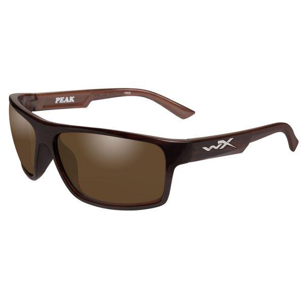 Wiley X Peak Sunglasses - Gloss Layered Tortoise/Amber