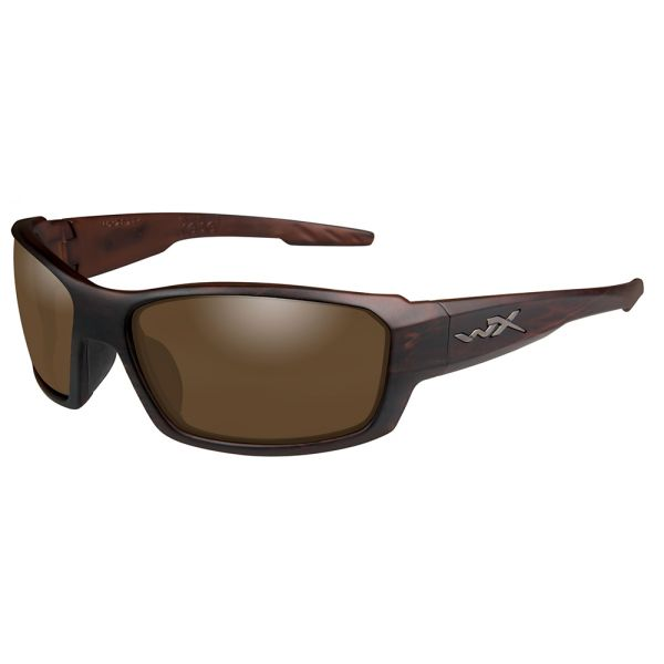 Wiley X Rebel Sunglasses - Matte Layered Tortoise/Polarized Bronze