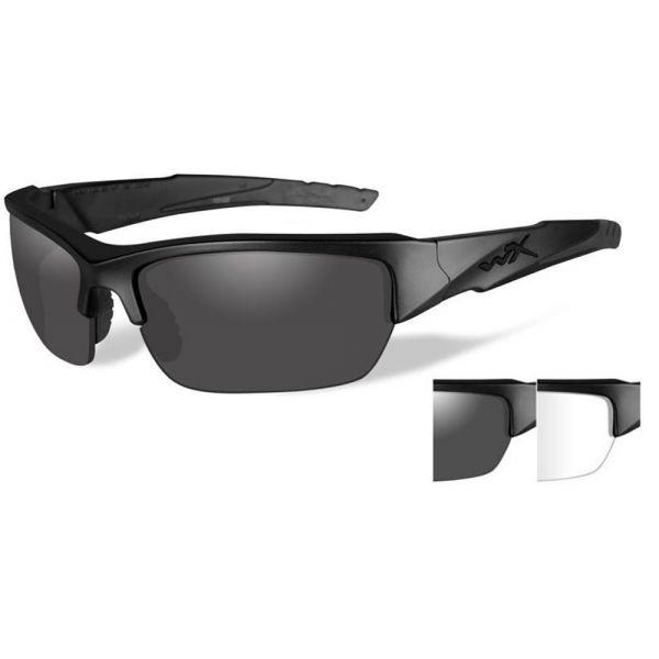 Wiley X Valor Sunglasses - Matte Black/APEL Smoke Grey/Clear