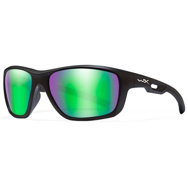 Wiley X WX Aspect Sunglasses - Emerald Mirror Lens/Matte Black Frame