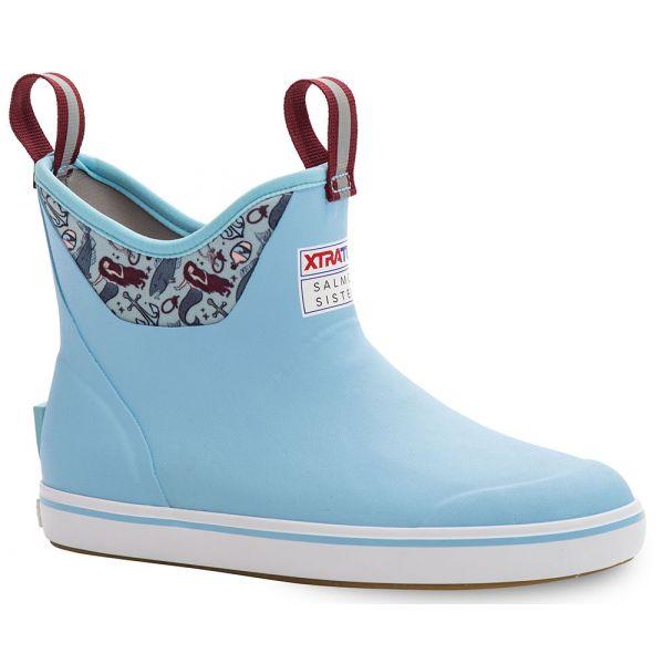 Xtratuf Women's Ankle Boot - Salmon Sisters - Blue/Mermaid Life