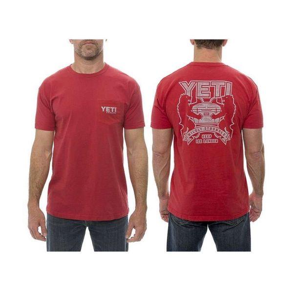 YETI Coat of Arms Short Sleeve Pocket T-Shirt