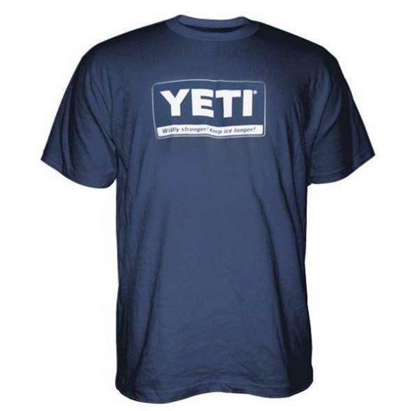 YETI Billboard Logo Short Sleeve T-Shirt - Navy - X-Large