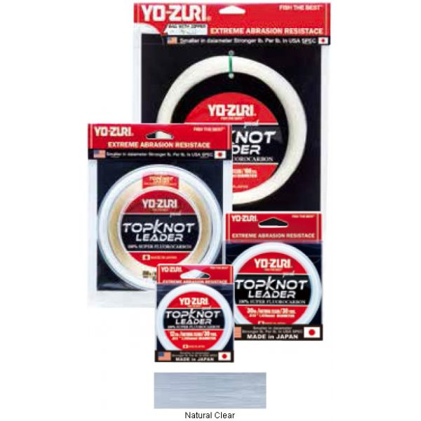 Yo-Zuri TopKnot Leader - 30 yds - 80 lb - Natural Clear