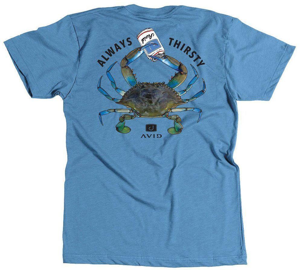 Avid Sportswear Always Thirsty T-Shirt Indigo Heather