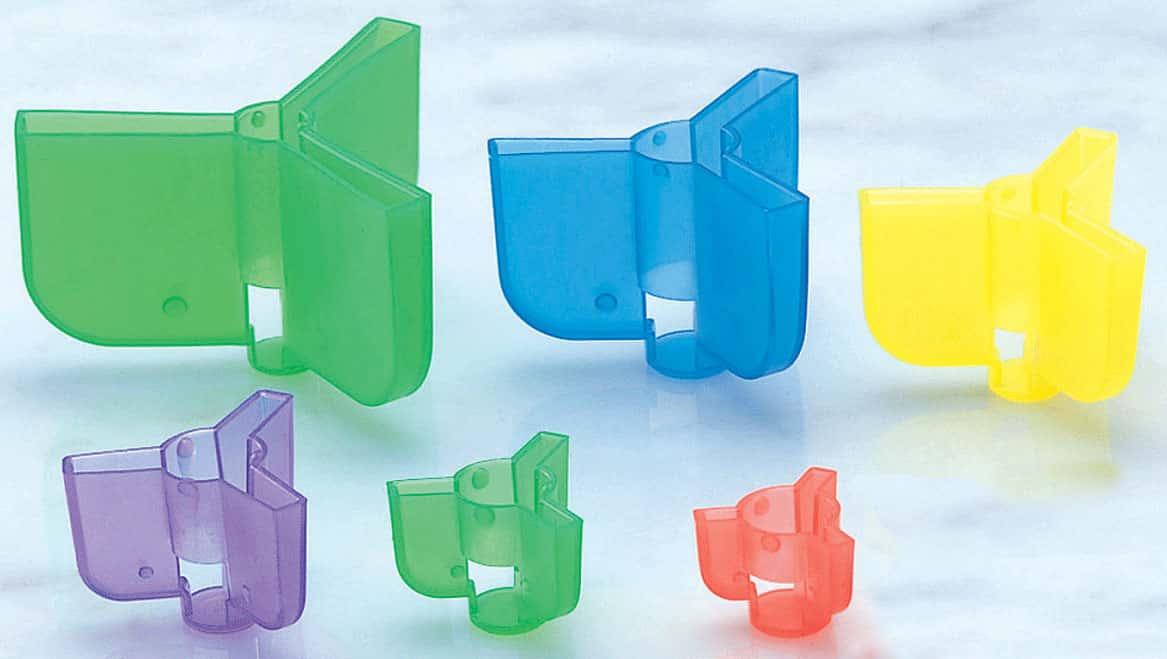 100× Mixed 5 sizes Fishing Treble Hook Safety Cap Cover Bonnets Hook Treble Caps