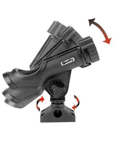 Scotty 230-BK Powerlock Rod Holder Black with 241 Side//Deck Mount for sale online