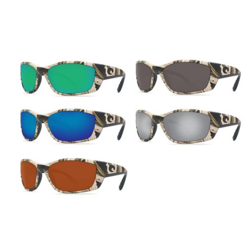 NEW Costa Fisch Global Fit Sunglasses Tortoise Blue Mirror 580G Glass AUTHENTIC