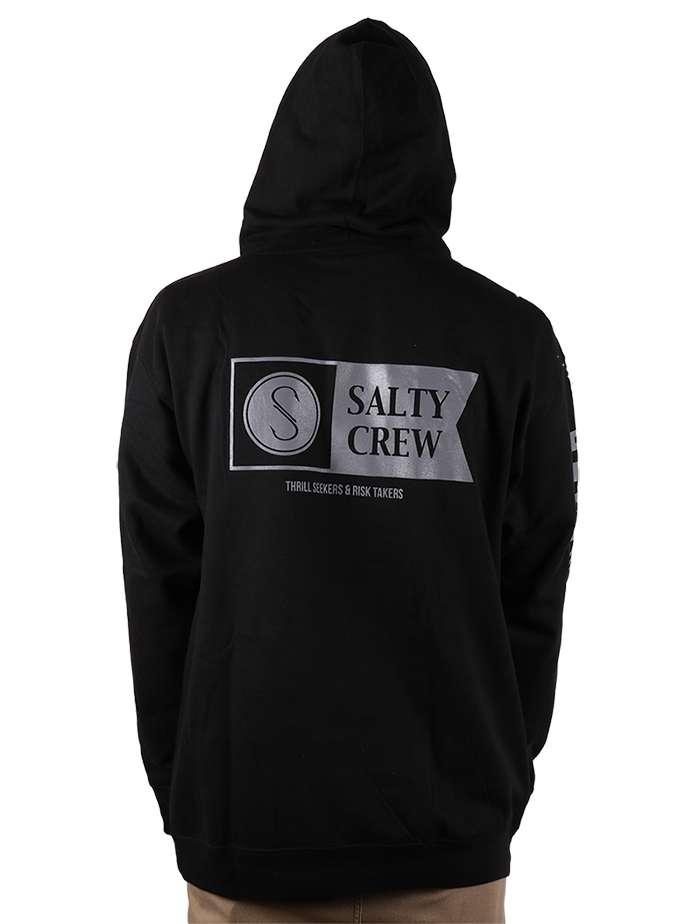 Salty Crew Mossback Hoodie Hoody Black **CHOOSE SIZE**