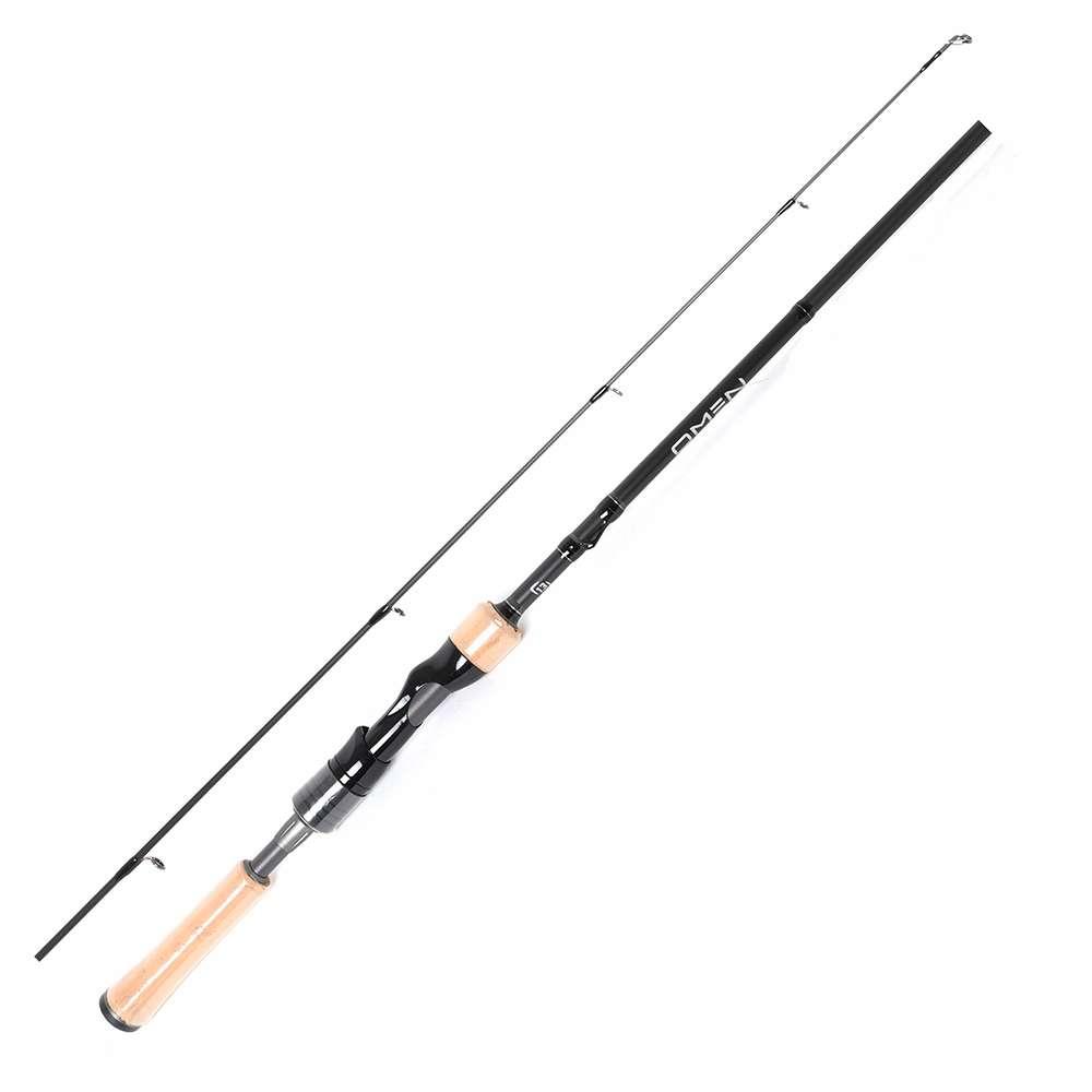"New 13 Fishing Omen Black II 7/'3/"" MH Version 2 Piece Spinning Rod  OB2S73MH-2"