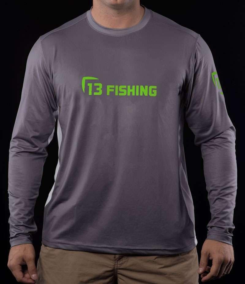13 fishing plsmtgyl l man tooth performance ls t shirt