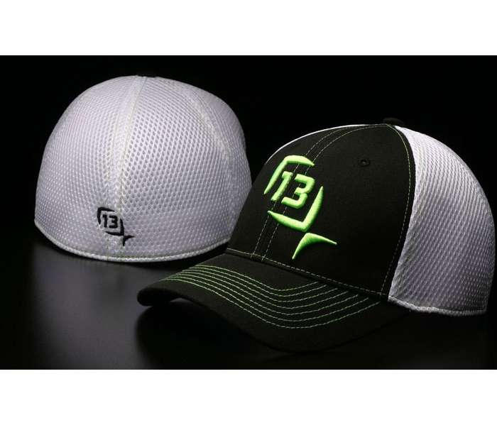 13 fishing the baldwin flexfit cap black lime tackledirect for 13 fishing apparel