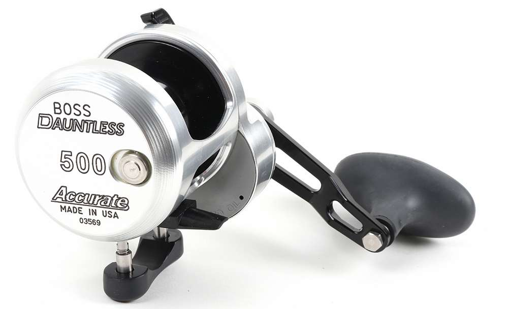 Accurate DX2-500LBS Boss Dauntless Two Speed Reel - Left-Hand