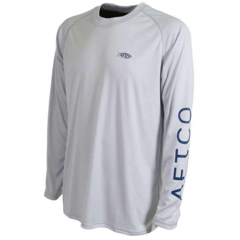 Aftco m61109 samurai long sleeve sun shirt silver for Fly fishing sun shirt