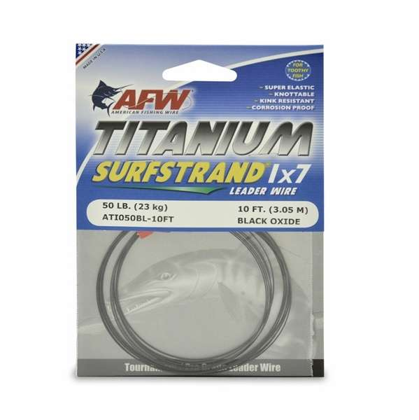 American Fishing Wire Titanium Surfstrand Leader Wires | TackleDirect