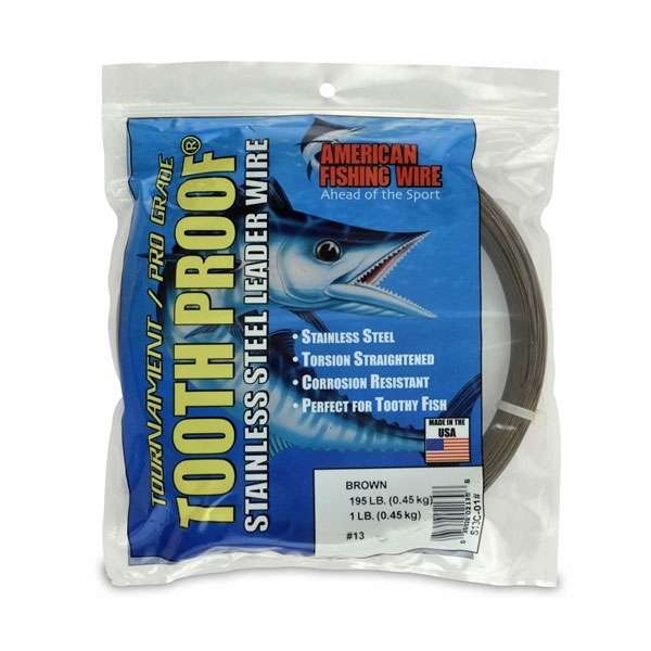 American Fishing Wire S13C-01 ToothProof SS Leader   TackleDirect