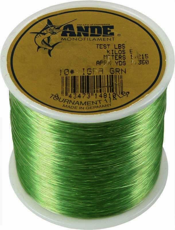 Ande igfa green 1 4 lb spool 6 lb test for Ande fishing line