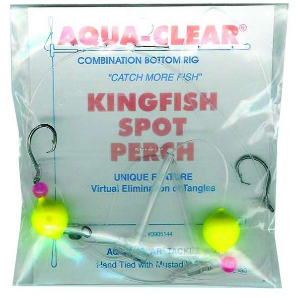 Aqua Clear Rig Kingfish//Spot//Perch Float Red Bead Size 8