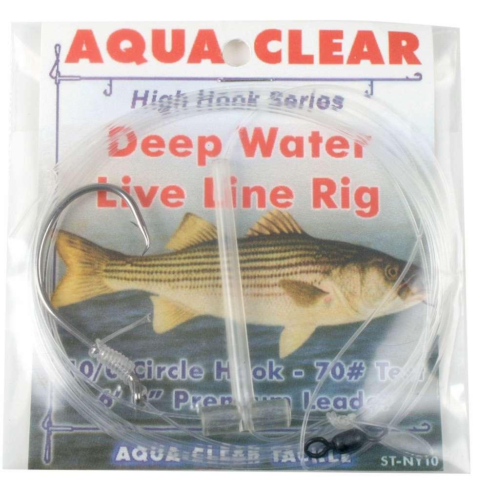 Aqua clear st 7de striped bass deep water live line rig for Deep water bass fishing