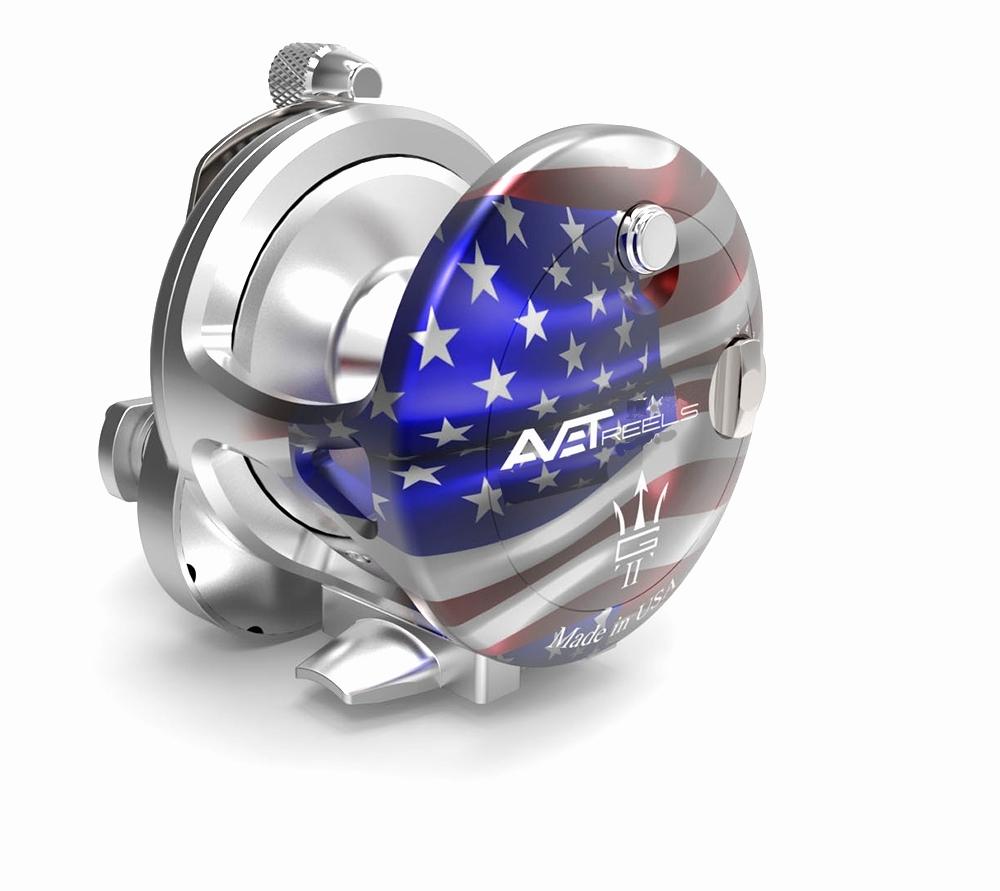 Avet HX 5/2 MC Raptor Two-Speed Lever Drag Casting Reel American Flag  Patriot