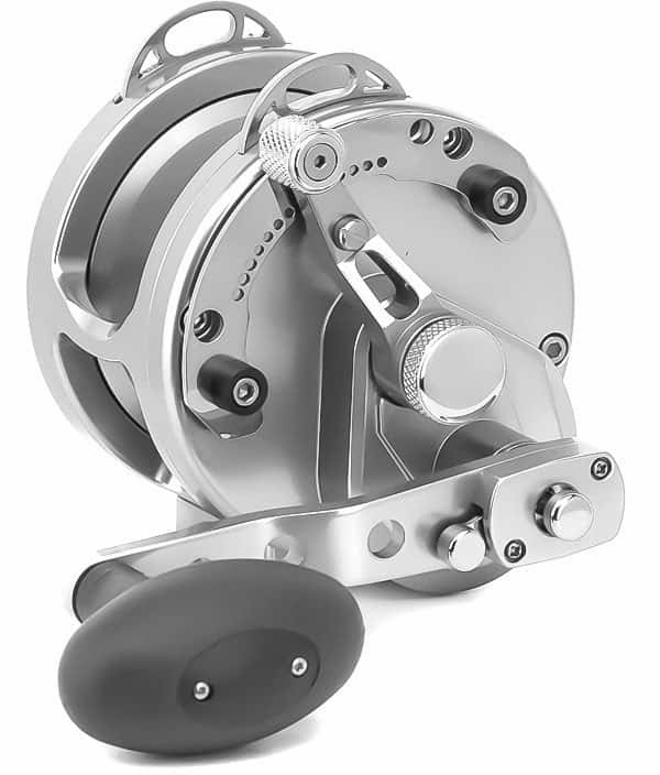 Avet HXJ 5/2 MC Raptor Two-Speed Lever Drag Casting Reels Silver -  Avet Reels