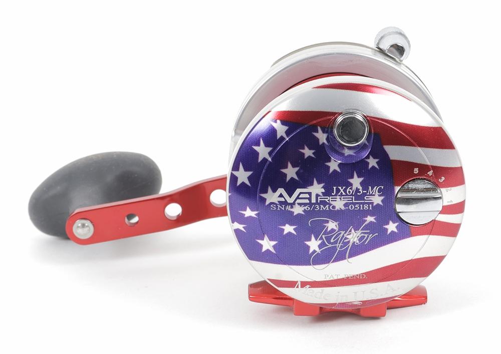 Avet JX 6/3 MC Raptor 2-Speed Lever Drag Casting Reel American Flag Patriot