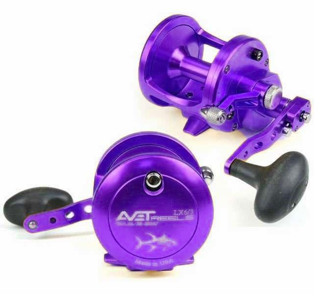 Avet lx 6 3 mc raptor 2 speed lever drag casting reel purple for Purple fishing reel