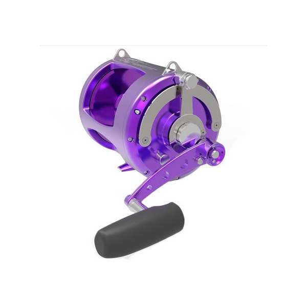Avet trx 80w 2 speed lever drag big game reel purple for Purple fishing reel