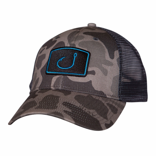 check out e1cb2 ccbce ... 50% off avid sportswear iconic fishing trucker hat duck camo 65dac 39036