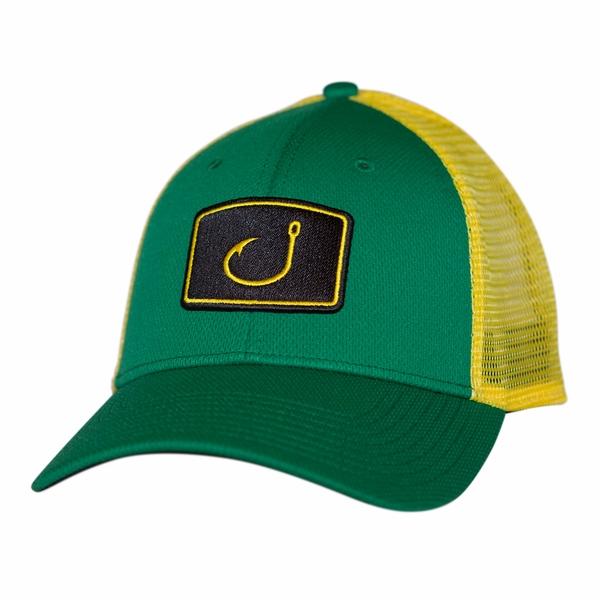a13074b8 AVID Sportswear Iconic Fishing Trucker Hat - Kelly Gren - TackleDirect