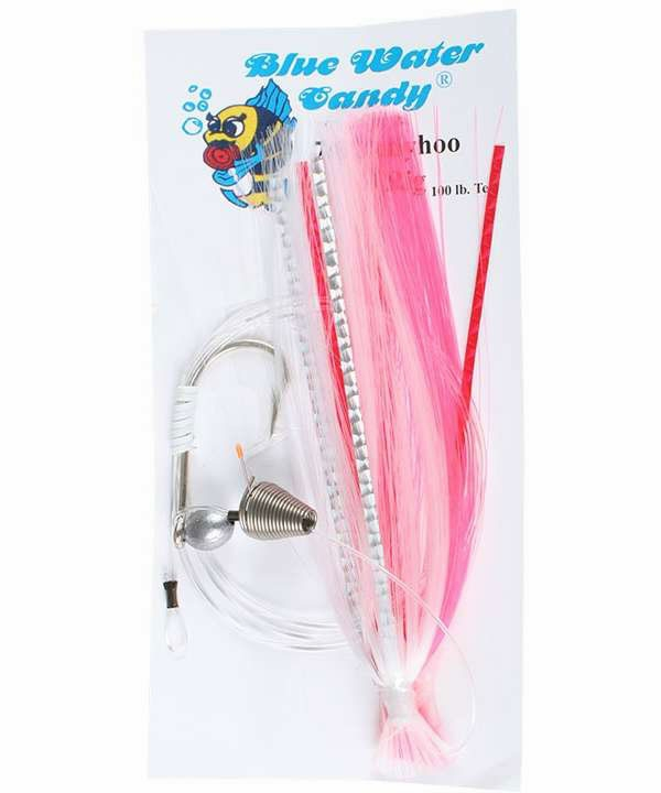 Blue Water Candy Skirted Ballyhoo Rig - 7/0 Pink/White