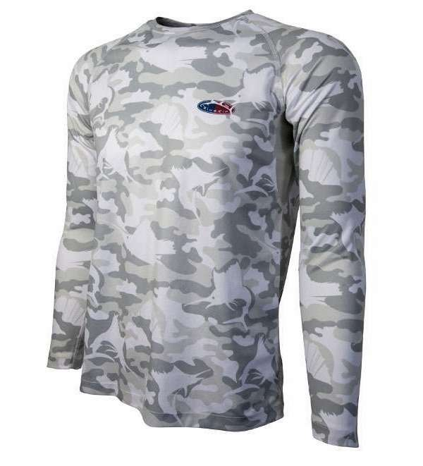 Bluefin USA Camo Performance Long Sleeve Tee - Grey - XX-Large BLU-0197-5
