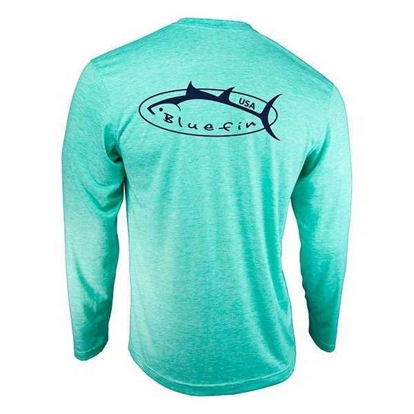 Bluefin USA Logo Design Tech Tee Aqua - Small BLU-0119-1