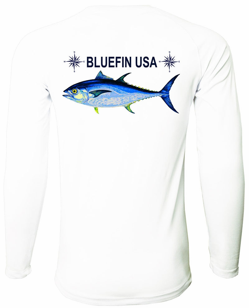 fa1725856852 Bluefin USA Long Sleeve Rashguard - White - S - TackleDirect