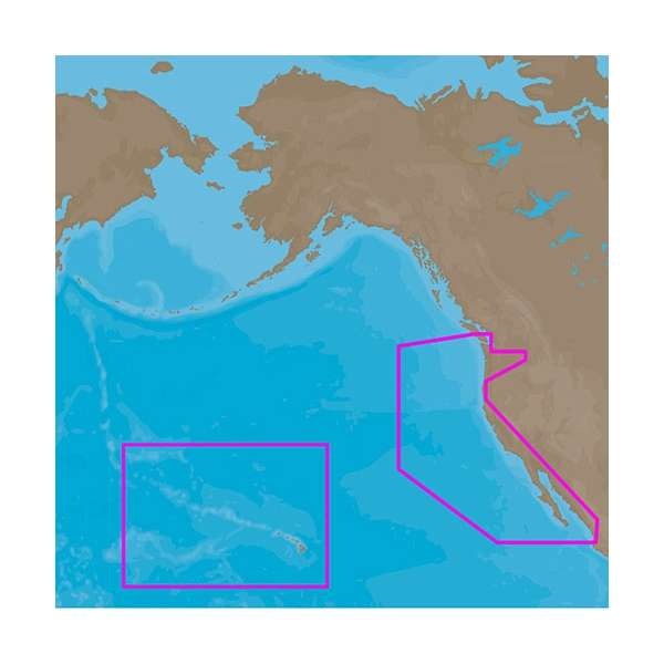 C-MAP 4D Electronic Marine Charts - Pacific Coast & Hawaii on