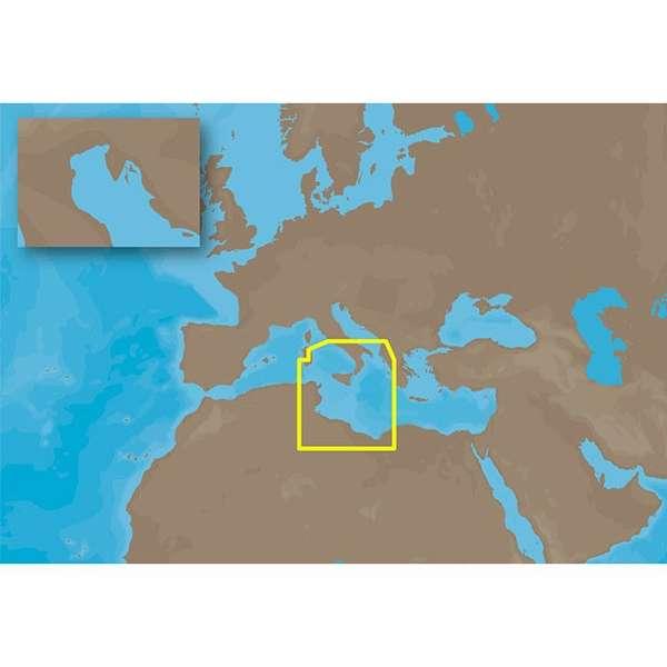 C-MAP NT+ EM-C995 - Low Tyrrhenian Tunisia