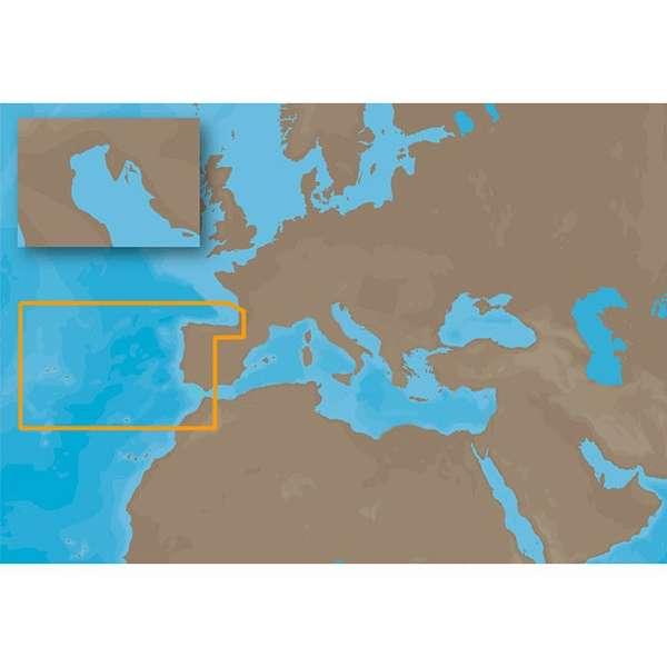 C-MAP NT+ EW-C204 - Iberian Peninsula Atl
