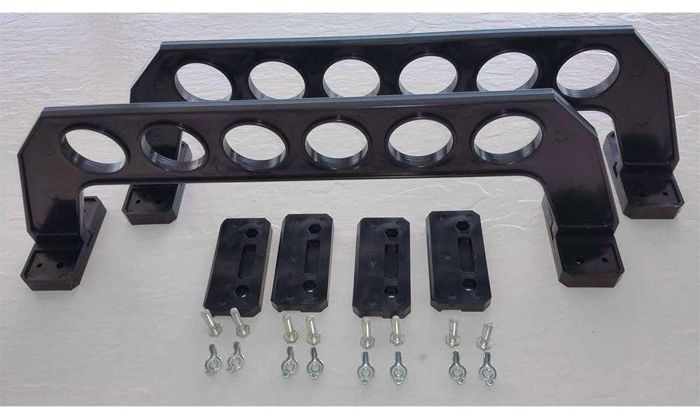Cobra storage garage door fishing rod rack 21in for Garage door fishing rod holder