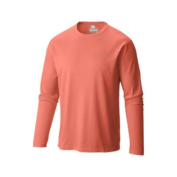 2a97bf45b6c Columbia 1536111801 PFG Zero Rules Men's Long Sleeve Shirt - Bright Peach M